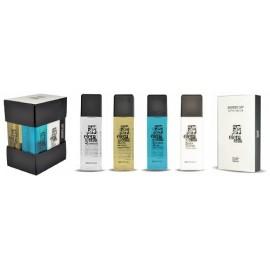 Elements kit: shampoo, bagnoschiuma, igiene intima, crema corpo e astuccio (cuffia doccia + sapone)