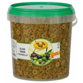 Olive verdi a rondelle da 4000g  sgocciolate