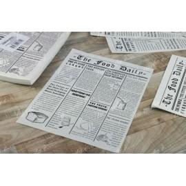 Carta vegetale  tovaglietta grease giornale 30x40   500 pezzi