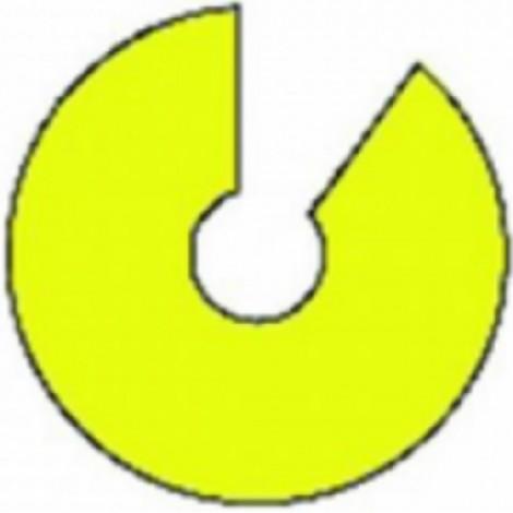 Cartoncino collante per lampada uv circolare