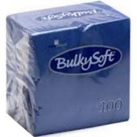 Tovagliolo blu 24x24   2 veli pura cellulosa 100pz