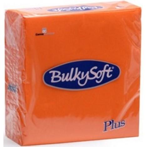 Tovagliolo punta arancio 38x38 pura cellulosa 44pz
