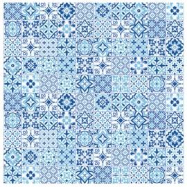 Tovaglia airlaid azulejos blu 100x100   25z