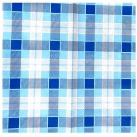 Coprimacchia extra politenato 100x100 scozzese blu 50 pezzi