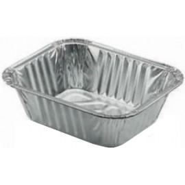 Vaschetta alluminio mezza porzione 100 pezzi