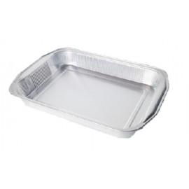 Vaschetta alluminio 6 porzione con manici 50 pezzi