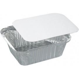 Vaschetta alluminio 1 porzione alta con coperchio 100 pezzi
