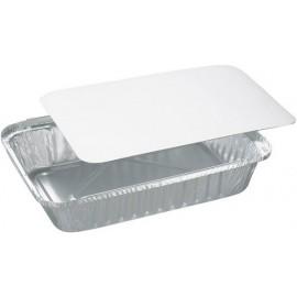 Vaschetta alluminio 4 porzioni con coperchio 100 pezzi