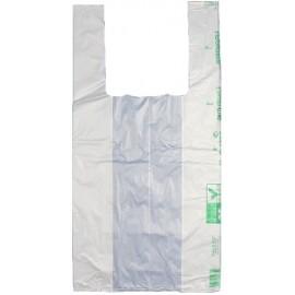Shopper biocompostabile medio bianco c/g 29x52   4 kilogrammi