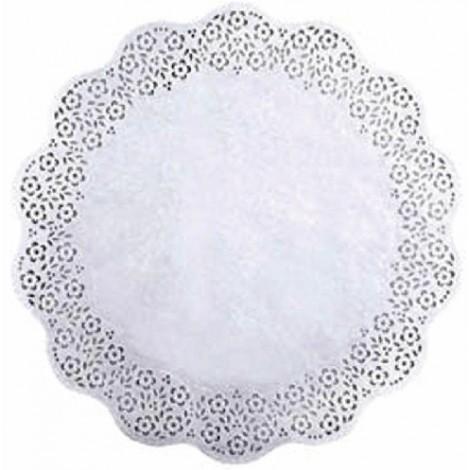Merletto bianco per disco diametro 28 100pz