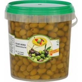 Olive verdi denocciolate secchio da 4kg sgocciolato