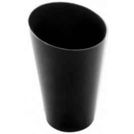 Bicchierino conico alto nero 75 cc   25 pz