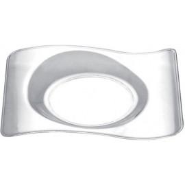 Piattino forma trasparente 10 cc   50 pezzi