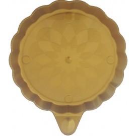 Piattino con manico oro 90 mm   25 pezzi