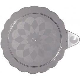 Piattino con manico trasparente 90 mm   25 pezzi