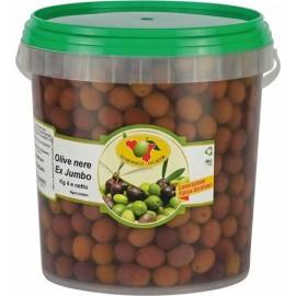 Olive nere calibro medio 4000g   sgocciolate