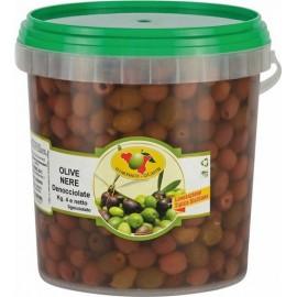 Olive nere denocciolate secchio da 4kg sgocciolato