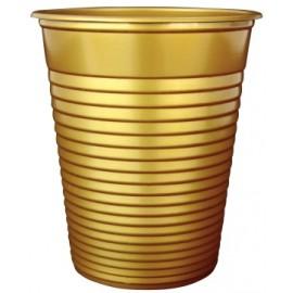 Bicchiere festa colore oro 200cc   [30]
