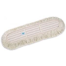 Ricambio scopa lineare cotone con tasche 60cm