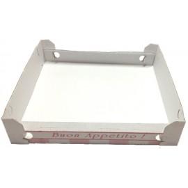 Cubo pizza bianco 33x33x3.5   100pz