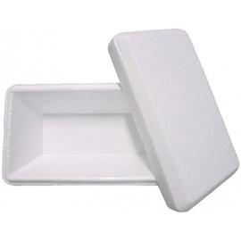 Vaschetta gelato rettangolare con coperchio in polistirolo 750gr  60pz